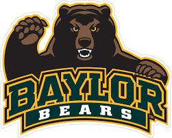 6 Baylor Bear Half Body W Baylor Bears Text Vinyl Decal Wesellspirit Com