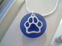 paw print necklace dog paw jewelry