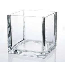 richland square glass cube vase