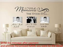 Amazon Com Miezeal Vinyl Wall Decal Quote Stickers Home Decoration Wall Art Mural In These Moments Time Stood Still Custom Wall Decals Home Kitchen