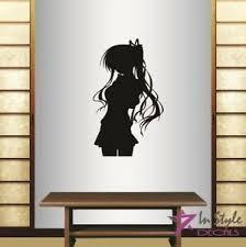 Vinyl Wall Decal Anime Manga Girl Long Hair Bedroom Living Room Art Sticker 1919 Ebay