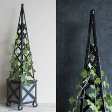 vintage topiary tall black obelisk from