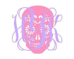 Popular Items For Sugar Skull Decal On Etsy Skull Decal Monogram Decal Sugar Skull