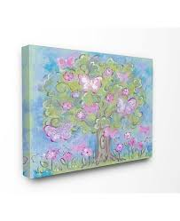 Stupell Industries The Kids Room Pastel Butterfly Tree Canvas Wall Art 24 X 30 Reviews All Wall Decor Home Decor Macy S