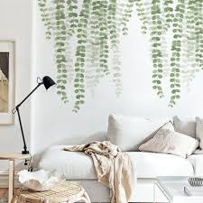Green Leaves Wall Sticker For Bedroom Living Room Kitchen Removable Wall Decal Ebay