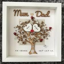 40th wedding anniversary gift frame mum
