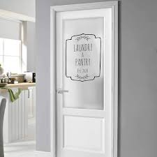 Amazon Com Custom Text Laundry And Pantry Door Decal For Door Or Wall Established Year Decal Sticker Kitchen Decor Handmade