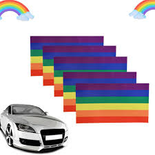Collectibles Big Rainbow Sticker Lgbt Gay Car Window Decal 11 X 5 Transportation Automobilia Collectibles