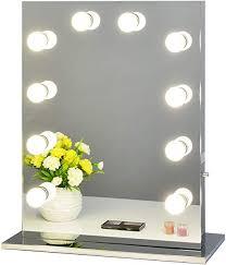 chende silver hollywood vanity mirror