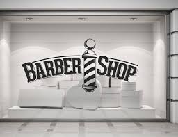 Barber Shop Barbers Pole Wall Window Shop Art Vinyl Decal Etsy