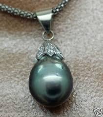 tahitian black pearl drop necklace
