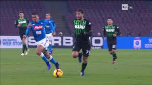 Napoli - Sassuolo (Coppa Italia) gol di Fabian Ruiz 13-1-2019 ...