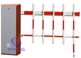 Highway Toll Stations Autoamtic Parking Barrier Gate With Double Limit Switch 2 Fence Arm