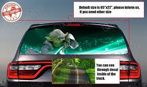 Star Wars Yoda Rear Window Tint Perforated Decals Stickers Printed Vinyl Car 963 Avery Rear Window Decals Rear Window Tinted Windows