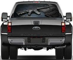 Ak 47 Rifle Rear Window Graphic Decal Sticker Car Truck Suv Van Weapons Guns 241 Ebay
