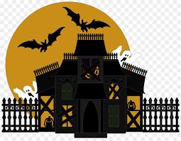 Haunted House Cartoon Clipart Halloween House Ghost Transparent Clip Art
