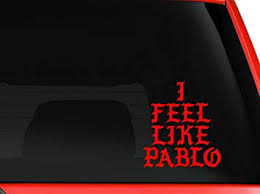 Amazon Com Yourchoicedecals I Feel Like Pablo Logo Kanye West Macbook Car Window Vinyl Decal The Life Of Pablo Tlop Yeezy Shoes Red Computers Accessories