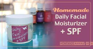 homemade daily moisturizer spf