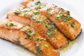 Grilled Salmon with Lemon Garlic Sauce ...