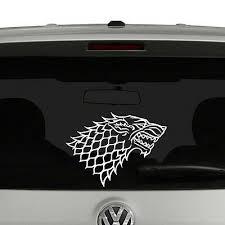Game Of Thrones House Stark Vinyl Decal Sticker Car Window Ebay
