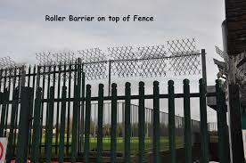 Roller Barrier On Top Of Fence Keane Fencing