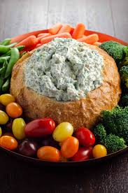 knorr spinach dip in a bread bowl