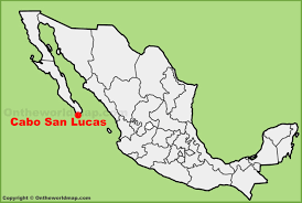 Cabo San Lucas location on the Mexico map