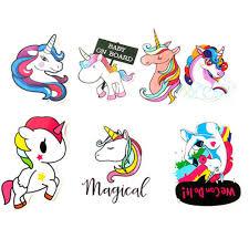 7x Unicorn Cartoon Sticker Decal Pet Art Laptop Travel Suitcase Sticker Fashion Ebay