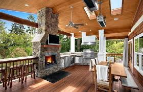 kitchen outdoor patio fireplace covered