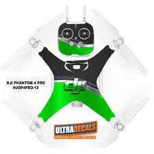 Dji Phantom 4 Pro Skin Wrap Decal Sticker Battery Body Green Honeycomb Ultradecal Ultradecals Com