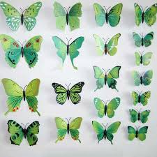 12pcs Waterproof Wall Stickers Green Butterfly Wall Decals For Kids Room Tv Wall Sticker Home Decor Kitchen Pvc Butterfly 3d Diy Butterfly Wall Decals Wall Decalspvc Butterfly Aliexpress