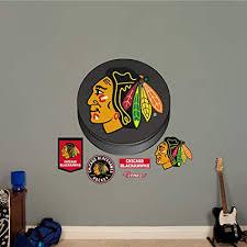 Fathead Chicago Blackhawks Puck Logo Nhl Real Big Wall Decal Wall Decals Amazon Canada