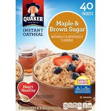 quaker instant oatmeal maple brown
