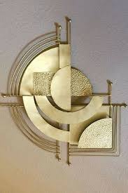 Sophie Blake Ny Jewelry Design Architecture 1920s Art Deco Wall Decal Gold Wall Decal Geometric Design Wall Sculpture Art 3d Wall Art Sculpture 3d Wall Art