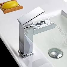 one hole waterfall bathroom sink faucet