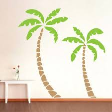 2pcs Palm Tree Wall Decals Large Size Tree Wall Sticker Home Decor Living Room Removable Custom Color Vinyl Wall Art Mural A615 Palm Tree Wall Decal Tree Wall Decalstickers Home Decor Aliexpress