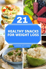21 healthy snacks for weight loss