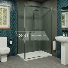 china frameless glass shower door