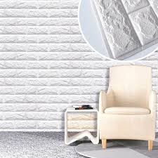 Dodoing 3d Brick Wall Stickers Self Adhesive Panel Decal Pe Wallpaper Peel And Stick Pe Foam