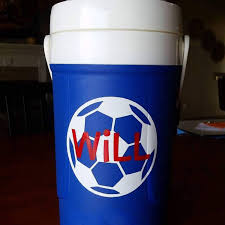 Soccer Ball Decal With Name Personalized Soccer Decals Soccer Decal Soccer Stickers Vinyl Stickers For Water Bottle Jug Personalized Soccer Vinyl Sticker Vinyl