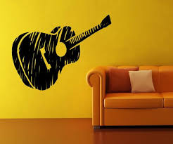 Vinyl Wall Decal Sticker Guitar Sketch Os Mb919 Stickerbrand