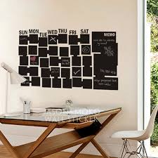 Chalkboard Wall Decal Wall Calendar For Your Home Office Wall Stickers Home Decoration 60cmx105cm Free Shipping Wall Calendar Wall Decalshome Decor Aliexpress