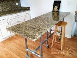 the table features a granite table top