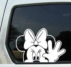 Minnie Mouse Waiving Window Decal Sticker Disney Decals Cell Phone Decals Vinyl Decals