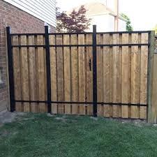 Slipfence 4 Ft X 6 Ft Wood And Aluminum Fence Gate Sf2 Gk100 The Home Depot Aluminum Fence Gate Aluminum Fence Wood Fence Gates