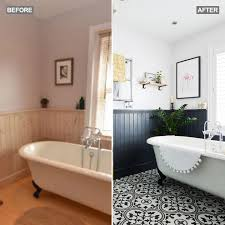 roll top bath statement floor tiles