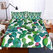 3d print bedding set cactus dark green