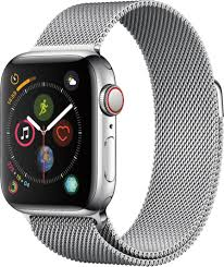 Best Buy: Apple Watch Series 4 (GPS + Cellular) 40mm Stainless Steel Case  with Milanese Loop Stainless Steel MTUM2LL/A