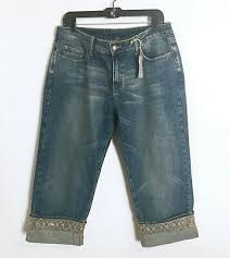 denim jean capri pants womens size