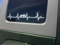 Jeep Wrangler Ekg Heartbeat 22 5 X 4 Vinyl Decal Sticker For J Vital All Terrain